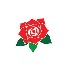 rose flower logo template vector image