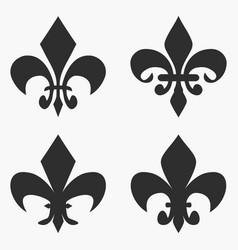 set fleur de lis symbol vector image
