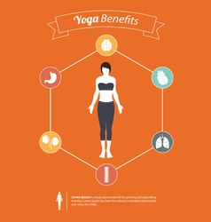 Set of yoga poses infographic in flat design vector