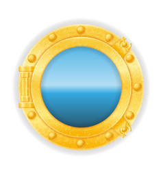 ship window porthole stock vector image