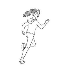 Sketch running man ranaway character vector