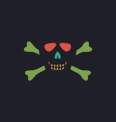 Skull crossbones computer symbol vector