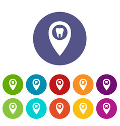 small tooth icon simple style vector image
