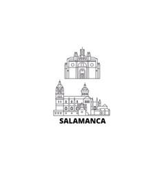 spain salamanca line travel skyline set spain vector image
