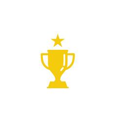 star trophy logo icon design vector image