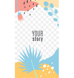 stories modern editable template tropical vector image