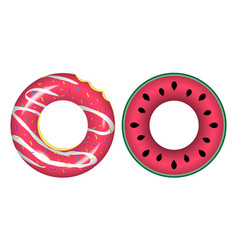 Swim rings icons vector