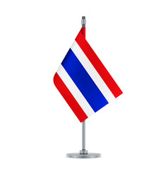 thai flag hanging on the metallic pole vector image