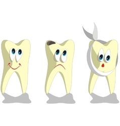 Tooth cartoon set 001 vector