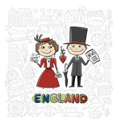 travel to england greeting card for your design vector image