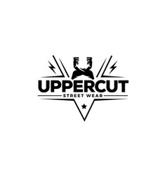 uppercut street wear logo symbol badge vector image