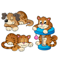 various pets collection 1 vector image