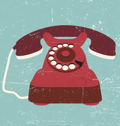 vintage old retro black telephone vector image vector image