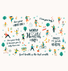 World health day with people vector