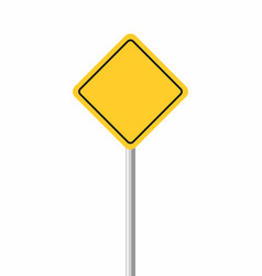 yellow traffic sign vector image