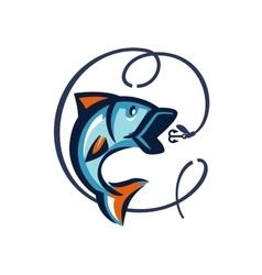 black fish vector image vector image