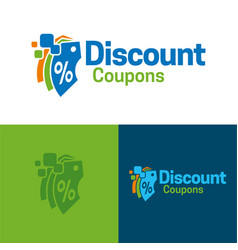 discount coupons icon and logo vector image vector image