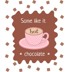hot chocolate poster vector image vector image