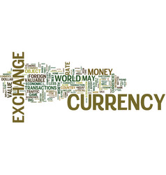 the monster traffic way of currency exchange text vector image