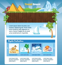 travel template for web site vector image vector image