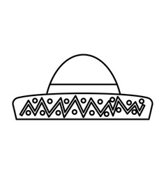 typical latin american hat vector image