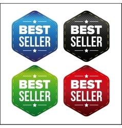 Best Seller patch set vector image vector image