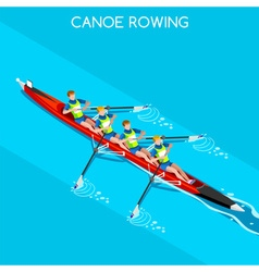 Canoe Without Coxswain Four 2016 Summer Games 3D vector image