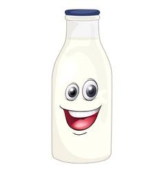 Cartoon Milk Bottle vector image