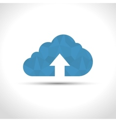 Icon upload cloud process design isolated vector