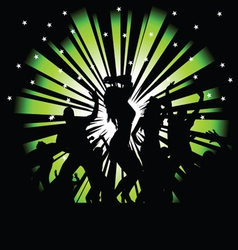 party and disco people photo tree vector image