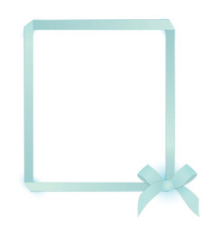 Ribbon blue bow frame vector image vector image