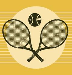 vintage tennis equipments vector image vector image