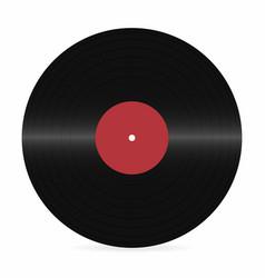 vinyl record blank realistic vinyl disc mockup on vector image vector image