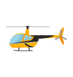 yellow taxi helicopter air vector image vector image