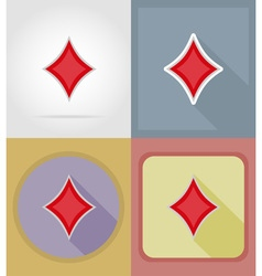 casino flat icons 07 vector image vector image
