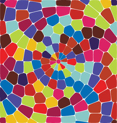 Circle tile background vector