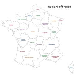 Contour france map vector