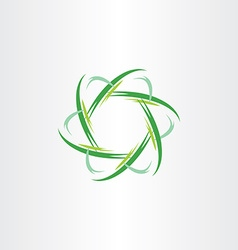 green quantum atom biology icon vector image