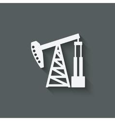 oil pump symbol vector image