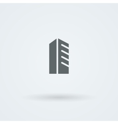 Schematic minimalist icon skyscraper high-rise vector image
