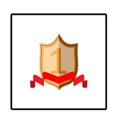 shield and ribbon red sign vector image vector image