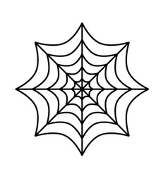silhouette of spider cobweb on white background vector image