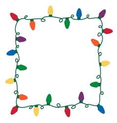 Christmas lights border vector