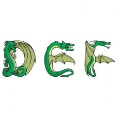dragons alphabet def vector image vector image