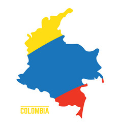 flag and map of colombia vector image