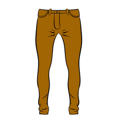 mens trousers icon cartoon vector image vector image