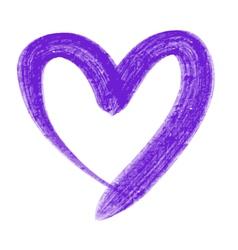 violet heart vector image vector image