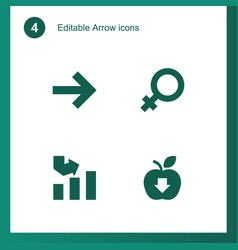 4 arrow icons vector