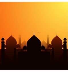 A religious background with mosque vector