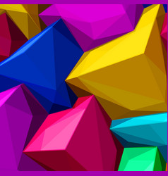 Abstract background with colorful cubes and vector